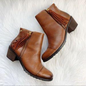 Pikolinos Andorra Leather Tassel Ankle Booties 40